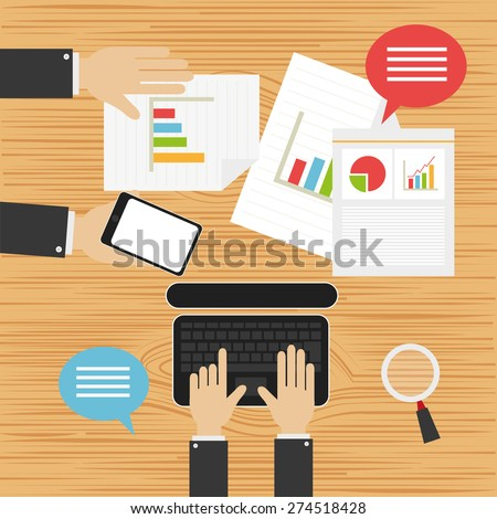 Business meeting and creative plan - stock vector