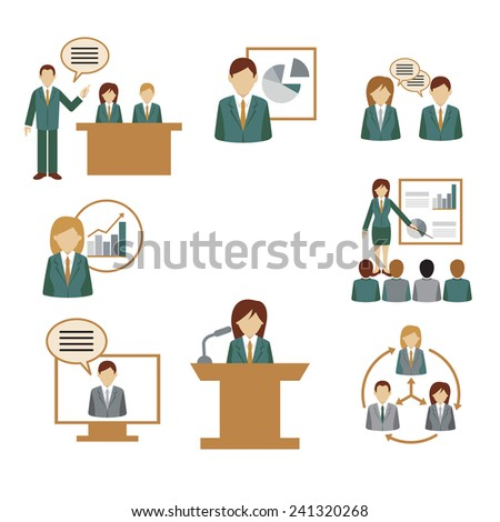 business meeting graphic elements - stock vector