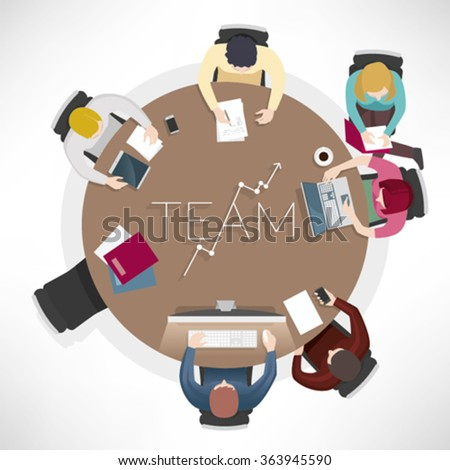 Business meeting of team, in vector illustration