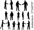 Business Meeting Silhouettes - stock