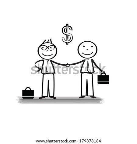 Business meeting two important persons  - stock vector