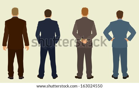 Business Men from the back - stock vector