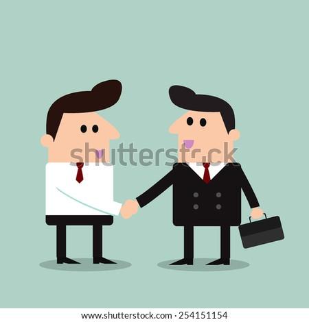 business men handshake  - stock vector