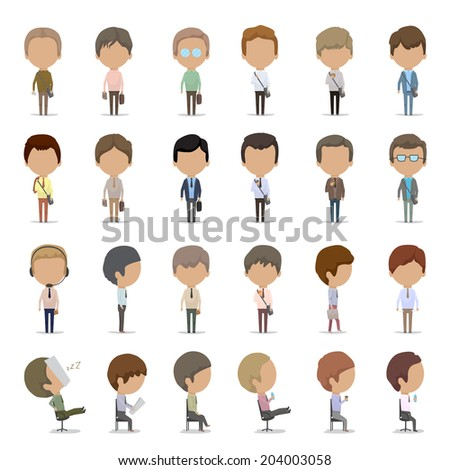 Business Men - Isolated On White Background - Vector Illustration, Graphic Design Editable For Your Design. Business Concept  - stock vector