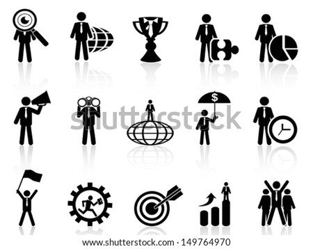 business metaphor icons set  - stock vector