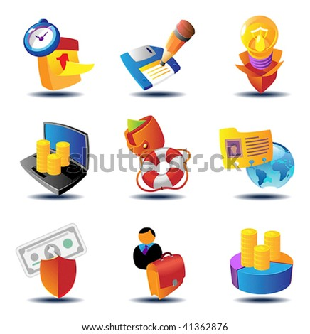 Business metaphor icons. Vector illustration concept. - stock vector