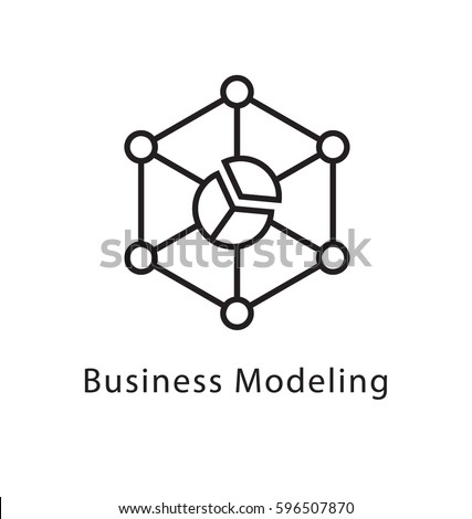 Business Modeling Vector Line Icon