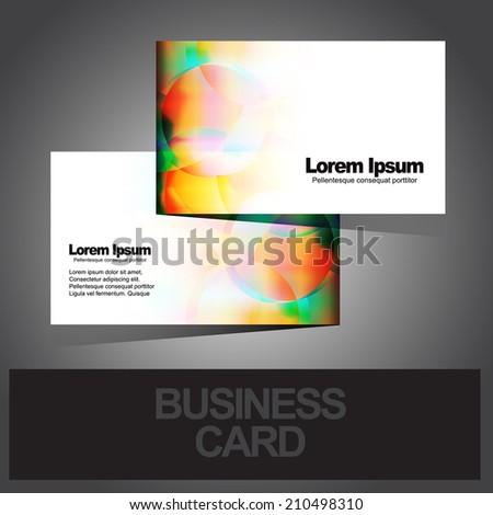 business modern card design - stock vector