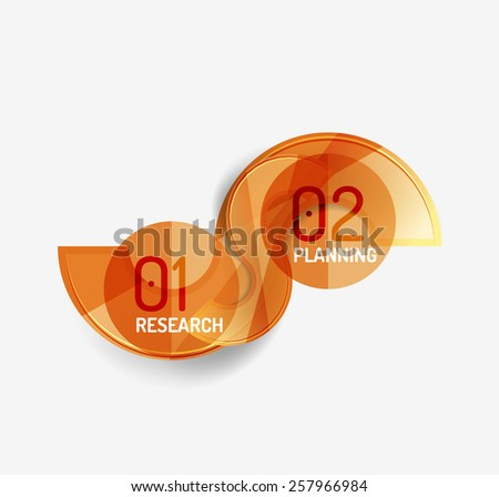 Business modern colorful geometric infographics, abstract compositions - stock vector
