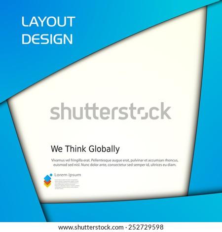 Business modern template, easy all editable - stock vector