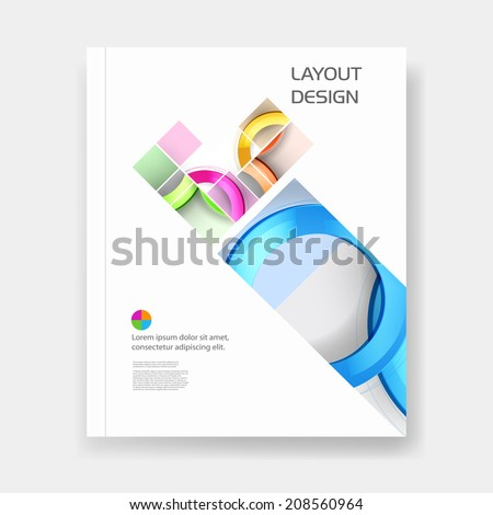 Business modern template easy all editable, easy all editable - stock vector