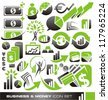 Business, money and finance icons and symbols vector set - business design elements and graphics - stock photo