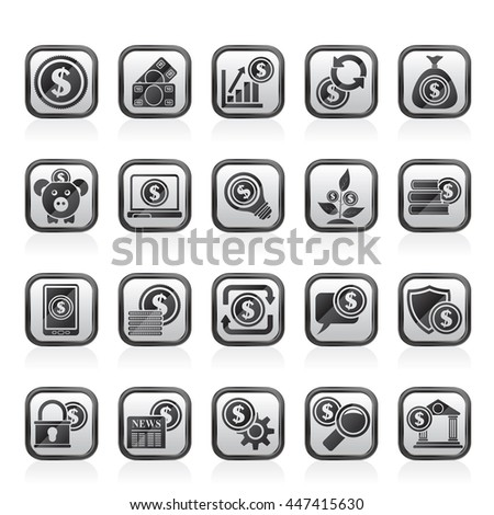 Business, Money and Finance icons -  vector icon set
