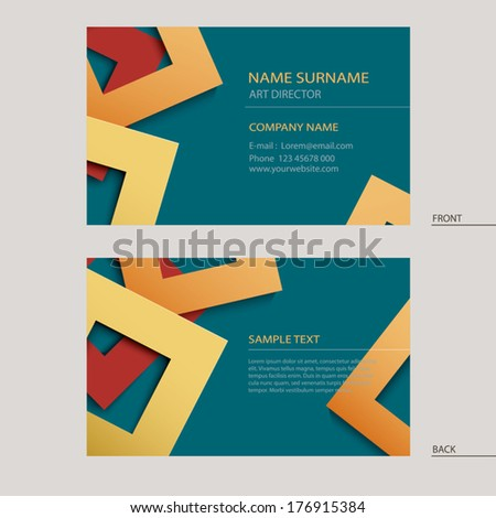 Business name card template - stock vector
