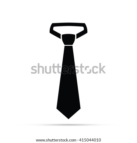 Business Necktie Tie Icon - stock vector