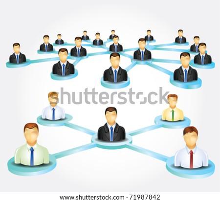 Business network - stock vector