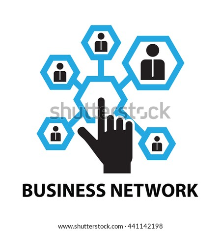 business network concept  icon and symbol - stock vector