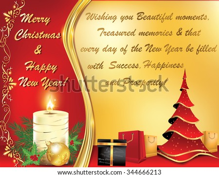 Business new year greeting card elegant stock vector 2018 business new year greeting card elegant warm new year and christmas greeting card with message m4hsunfo Gallery