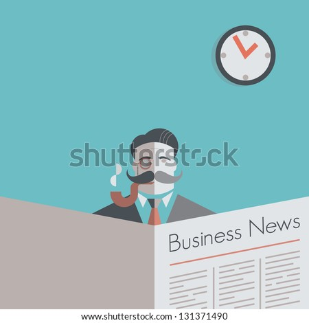 Business News Retro - stock vector