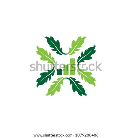 business oak leaf vector logo isolated stock vector 1079288486
