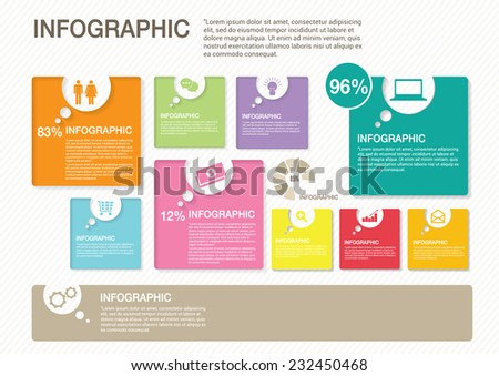 Business of Infographics - stock vector