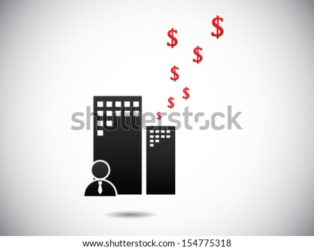 Business Office Expenditure - stock vector