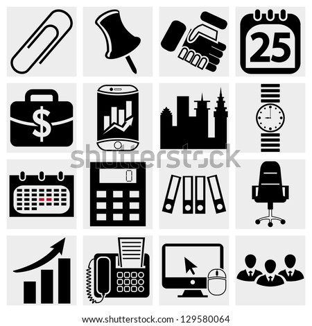 Business & Office icons - stock vector