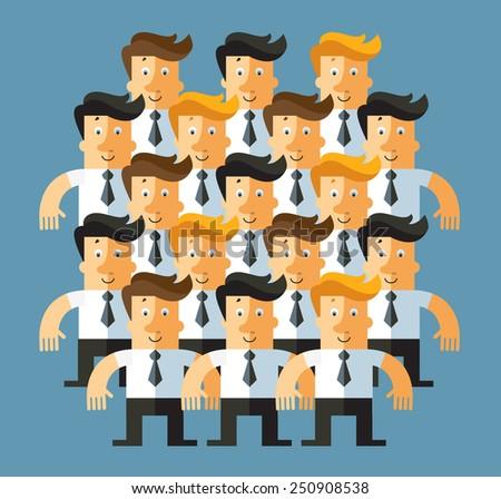 Business office team. Business flat vector illustration - stock vector