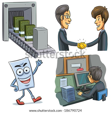 Business Operation - stock vector