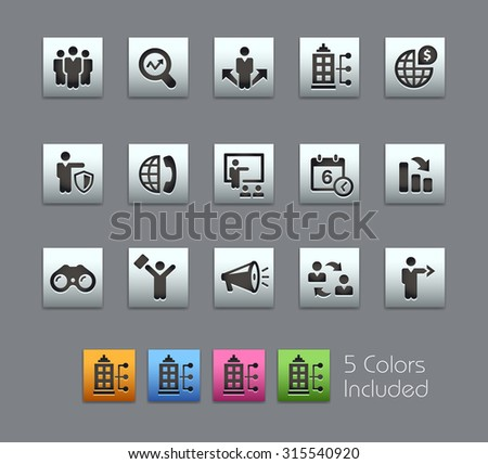 Business Opportunities  The vector file includes 5 color versions for each icon in different layers ---- - stock vector