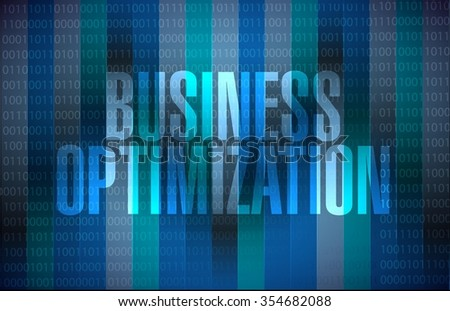 business optimization binary background sign concept illustration design graphic