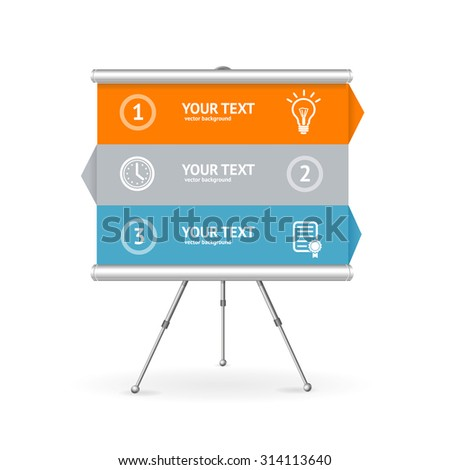 Business Option Banner. Can Be Used for Reports and Presentations. Vector illustration - stock vector