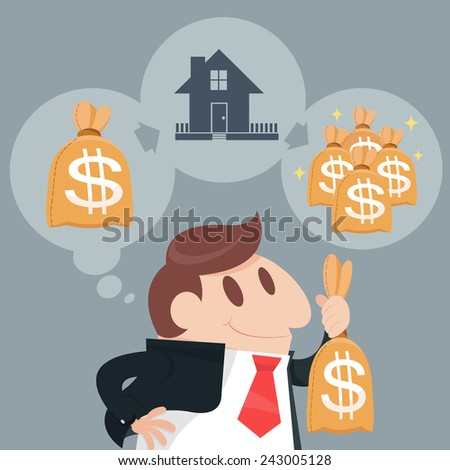 Business or economic investment - stock vector