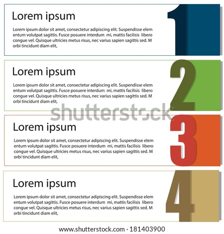 Business or education Infographic template for step and planing process - stock vector
