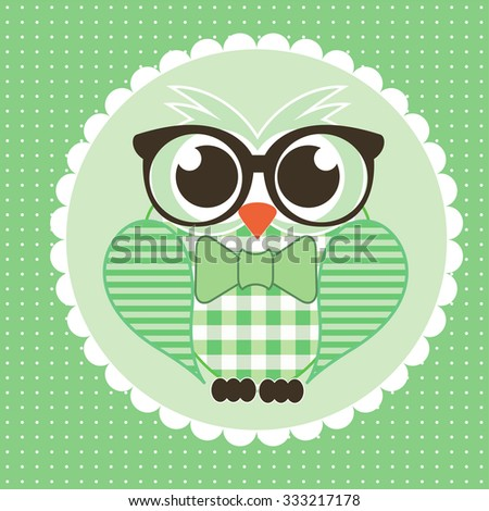Business owl cover vector - stock vector