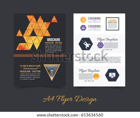 Business pamphlet polygonal booklet template a 4 stock vector hd business pamphlet or polygonal booklet template a4 document and vector background flyer geometric low flashek Gallery