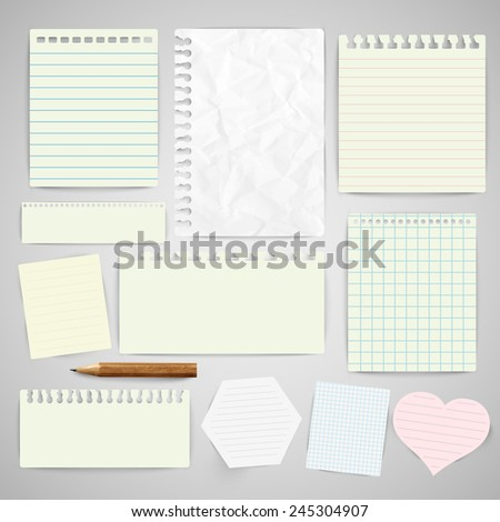 Business paper labels for advertising or for webpages, vector