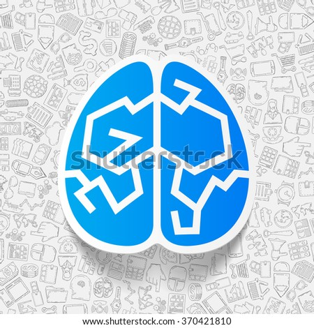 business paper sticker with hand drawn elements - stock vector