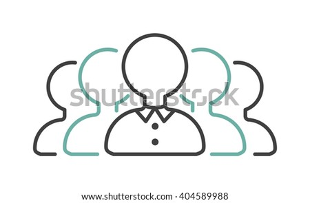 Business partner goup negotiations icon symbol success team agreement vector. Negotiations icon teamwork and partner cooperation negotiations icon. Company management negotiations icon. - stock vector