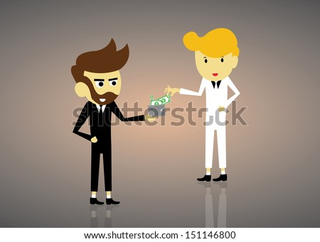business partner vector cartoon style - stock vector