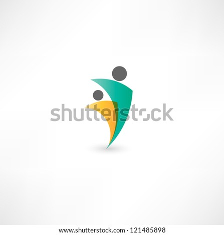 business partners sign - stock vector