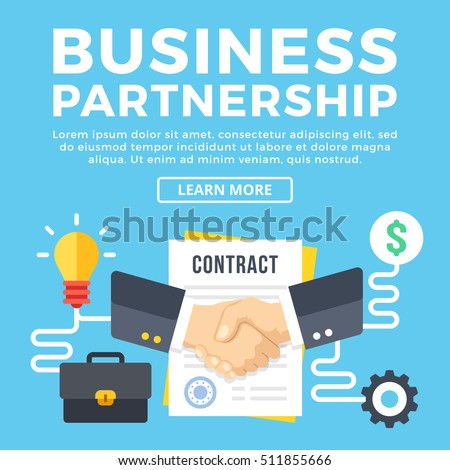 Business Partnership Contract Conclusion Modern Concepts Stock