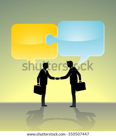 Business Partnership Solution-Businessmen sealing the deal