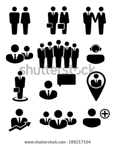 Business people and resources icons   - stock vector