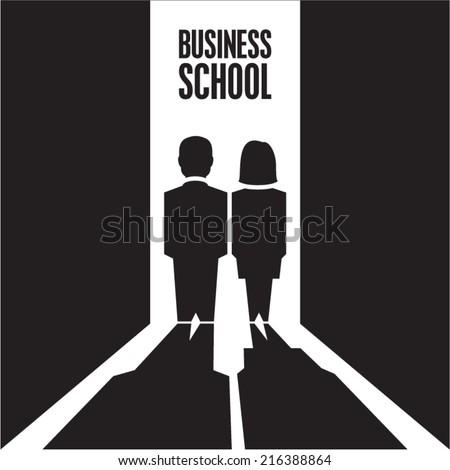 Business people. Business school. - stock vector