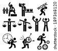 Business People Businessman Concept Stick Figure Pictogram Icon Cliparts - stock photo