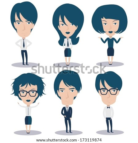 Business people characters design - stock vector