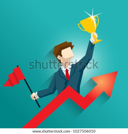 business people , Finish line to goal , Vector