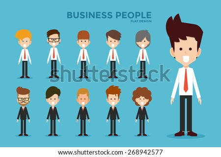 Business people flat design, vector.