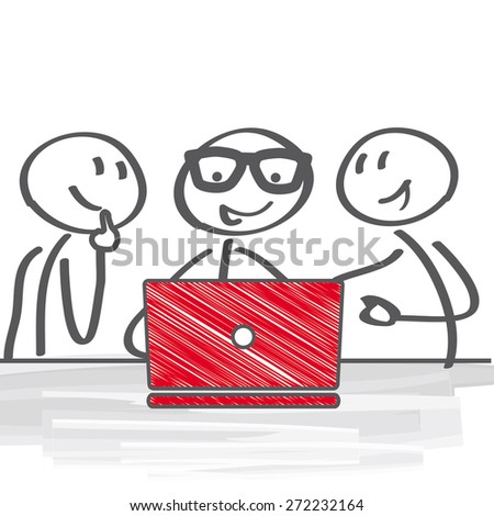 Business people Having Meeting - stock vector